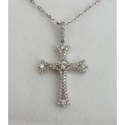 Fancy Diamond Cross Pendant