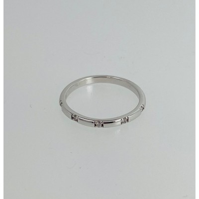 Wedding Band with Diamonds