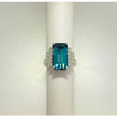 Ladies Tourmaline and Diamond ring