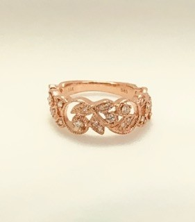 Rose Gold Dia Band